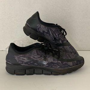 Nike Free 5.0 Sneakers Black Snake Skin Running 10